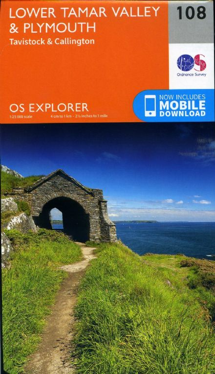 OS Explorer 108 - Lower Tamar Valley, Plymouth, Tavistock & Callington